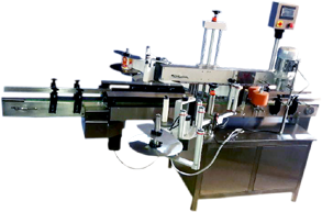 Single Side Labeling For Flat Bottle , Bottle Labeling Machine